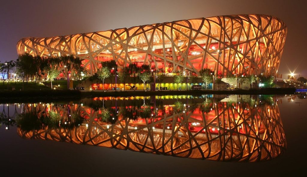 What once held the 2008 Olympics, Beijing National Stadium is a site to see, especially at night