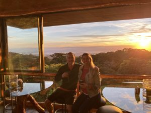 Sunsets at Hidden Canopy Treehouses in Monteverde