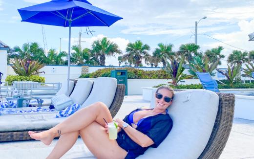 Traveling Blondie Daytona Beach Florida
